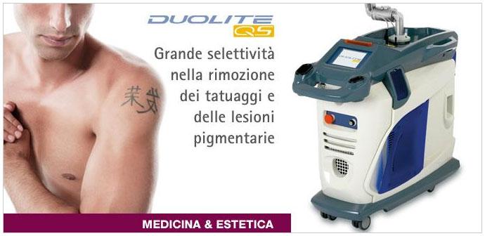 Duolite QS è il nuovo sistema laser espressamente progettato per la rimozione dei tatuaggi e delle lesioni pigmentate profonde